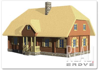 Rąstinių namų projektai